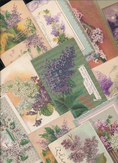 ~15 LOVELY Vintage LILACS Flowers Postcards greetings  Lot ~a683 #Greetings