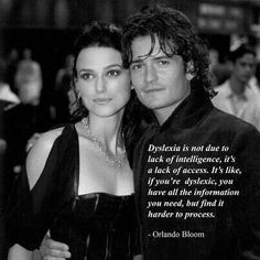 Orlando Bloom quote on dyslexica