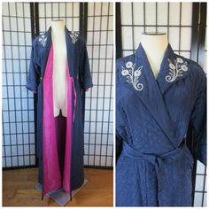 Vintage Dressing Robe 1930s 1940s Deco Satin by girlgal6 on Etsy