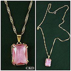 Colar pingente cristal rose de france!! www.ckdsemijoias.com.br