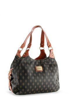 Patzino Signature Diamond Edition women's Black/Brown Designer Inspired Shopper Double Handle Hobo Travel Tote Bag Purse Satchel Handbag w/Shoulder Strap For Everyday Use. (BO49)