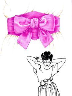 Tuto. Une ceinture à coudre pour habiller une robe ou un pantalon