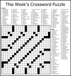 Crossword Puzzles for Adults - Best Coloring Pages For Kids Free Printable Crossword Puzzles, Coloring Pages For Kids, Quizes, Free Games, Diy Wood, Newspaper, Stove, Mindfulness, Windows