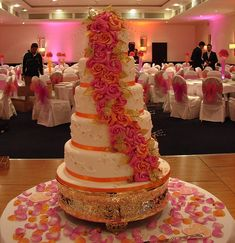 #Asian Wedding Cakes with roses : Bespoke collection style 2