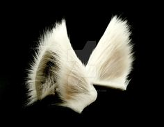 White Wolf Ears Inumimi by StorytellerZero.deviantart.com on @DeviantArt