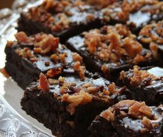 Bourbon Bacon Brownies with Bourbon Caramel Sauce By Chef Lippe I love bacon and have used it in ice cream, and now brownies. This recipe is very fudgy, moist and have an incredible saltines...