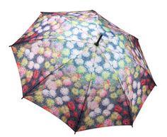 Monet Chrysanthemums Umbrella - keep dry in style!