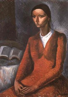 Mujer en rojo (1929) Lino Enea Spilimbergo