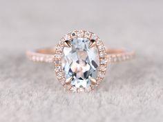 Natürlichen blauer Aquamarin-Ring Engagement ring Rotgold mit