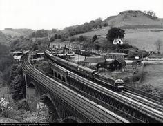 British Railways Class 45 at Peak District, Derbyshire, United Kingdom by Brian Stephenson Diesel Locomotive, Steam Locomotive, Disused Stations, Steam Railway, Train Pictures, British Rail, Train Tickets, Peak District, Derbyshire