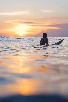Surf girl... sunset...