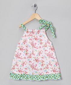 Red Bluebird Floral Swing Dress - Toddler & Girls