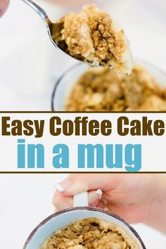 Your sweet tooth is going to love these 18 simple and tasty mug cake recipes. So many different flavors that can be made in less than 5 minutes! Brownie Recipes, Pie Recipes, Cookie Recipes, Dessert Recipes, Mug Cake Microwave, Eat Dessert First, Coffee Cake, Easy Desserts, Breakfast Recipes