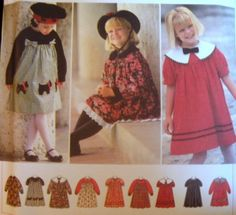 SIMPLICITY SEWING PATTERN - 9777 -2,3,4- GIRLS DRESS - YOU DESIGN