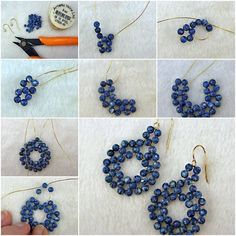 How To Make gold wire Beads or pearl jewelry Earrings step by step DIY tutorial instructions, How to, how to do, diy instructions, crafts, do it yourself, diy website, art project ideas