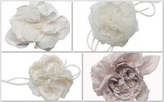 Idee per fiori di stoffa fai da te - Fiori da sposa