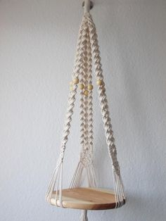 Macrame plant cotton rope cm) long-macrame shelf-candle holder- pot hanger or hanging table or cat hammock / pet bed – macrame Macrame Plant Hanger Patterns, Macrame Patterns, Diy Cat Hammock, Diy Regal, Pot Hanger, Hanging Table, Macrame Design, Macrame Projects, Handmade Home