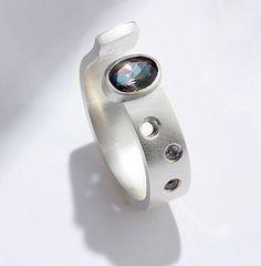 Mystic Topaz Silver Ring. Handmade by Reshma Tia Champaneria https://www.etsy.com/uk/shop/RESHMATIACHAMPANERIA