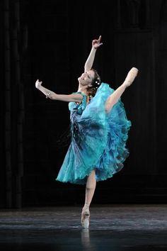 Blue green ballet costume