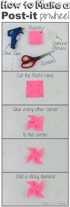 How to Make a Post-it Pinwheel
