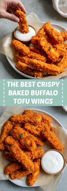 delicious buffalo crispy baked wings spicy best tofu the The Best Crispy Baked Buffalo Tofu Wings Spicy delicious You can find Tofu and more on our website Best Tofu Recipes, Veggie Recipes, Whole Food Recipes, Cooking Recipes, Healthy Recipes, Best Baked Tofu Recipe, Tofu Dinner Recipes, Tofu Meals, Vegetarian Recipes Tofu