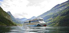 AIDA Cruises: erste Reisen für den Sommer 2019 schon jetzt buchbar Cruise Travel, Places Ive Been, Beautiful Places, Ocean, Mountains, Nature, Ships, Blog, Norway