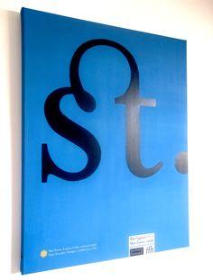 Canvas by Jamie Clarke, via Behance Typo Poster, Typographic Poster, Behance, Company Logo, Canvas, Diy, Tela, Bricolage, Canvases