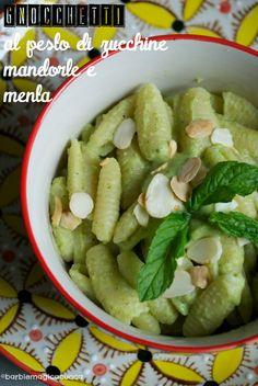 pesto di zucchine, mandorle e menta