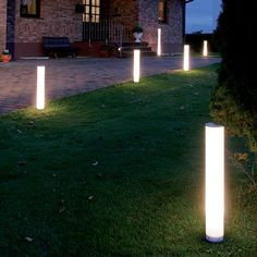 The outdoor Light Stick is available with a permanent base for mounting on a…