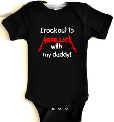 wrb metallica baby one piece bodysuit t shirt cool infant band clothes black new kids. $19.00, via Etsy.