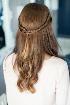 Half Up/Half Down Fishtail Braid #hair #inspiration #braids