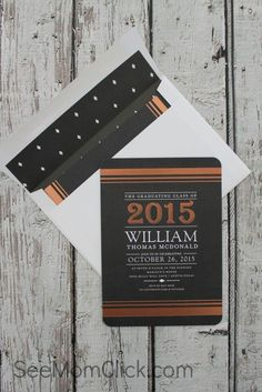 We love how See Mom Click created a Graduation Signature Board that makes a great gift for grad. Browse Tiny Prints graduation invitations and announcements.
