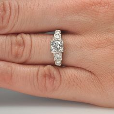 Leigh Jay Nacht Inc. - Replica Art Deco Engagement Ring - 1917-01