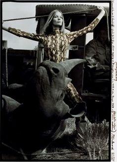 Veruschka von Lehndorff, Darajani, Kenya, 1964 by Peter Beard