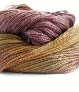 Perran Yarns Copper Plum hand-dyed merino tencel sock yarn