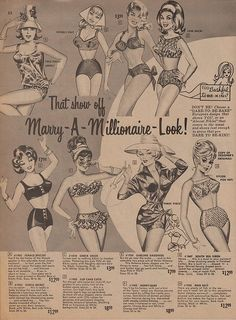 Marry-A-Millionaire-Look, 1964 Frederick's of Hollywood
