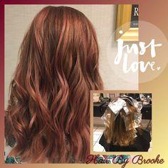 #hairbybrooke #guytangmetallics #rosegold #bronzemetallic #violetred #layeredcut #balayage