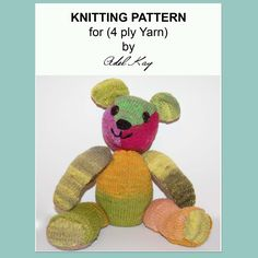 Tristan Jointed Teddy Bear Toy Knitting Pattern