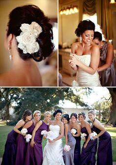 purple and #wedding