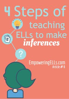 Empowering ELLs|4 Steps of Teaching ELLs to Make Inferences|Article providing tips and strategies for helping ELs learn to make inferences when reading texts in English.