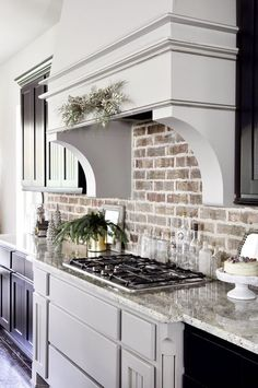 New Modern Farmhouse Kitchen Backsplash. 40 Popular Modern Farmhouse Kitchen Backsplash Ideas Popy Home Kitchen Redo, New Kitchen, Kitchen Ideas, Kitchen Cabinets, Kitchen Designs, White Cabinets, Kitchen Brick Backsplash, Brick Tile Backsplash, Kitchen Countertops