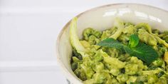 Warm Green Pea Salad with Avocado Mayo and Mint