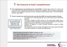 7. #Tax measures to foster #competitiveness http://www.invest-in-france.org/Medias/Publications/1429/10-reasons-to-invest-in-France-july-2013.pdf