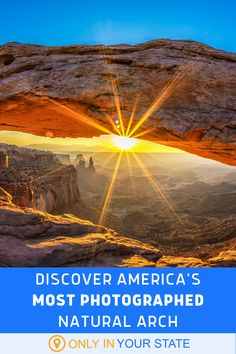 If you live in Utah or are familiar with photography, you've probably seen the Mesa Arch. Millions of tourists and artists take photographs of this natural beauty each year. Amazing Destinations, Travel Destinations, Beautiful Places In America, Best Bucket List, Safari Adventure, Canyonlands National Park, Hidden Beach, Local Attractions, Natural Wonders