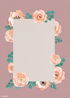 Scrapbook Background, Flower Background Wallpaper, Pastel Background, Flower Backgrounds, Black Phone Wallpaper, Framed Wallpaper, Cellphone Wallpaper, Aesthetic Iphone Wallpaper, Flower Frame