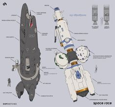 David Heidhoff Concept Art Blog: Space Race Ship Ideations