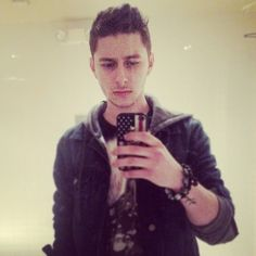 Eric Secharia from Midnight Red with his edgy American flag Wildflower case! :)