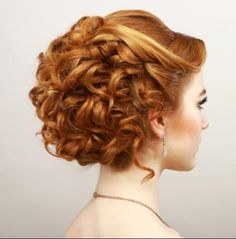 Stylish curled updo great for special occasions
