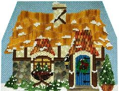 Kelly Clark Needlepoint Handbook: Winter Village Sneak Peek!