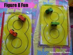Crossing the Midline Figure 8 Activity - Mummy Musings & Mayhem Sensory Activities Toddlers, Motor Activities, Transportation Activities, Sensory Play, Sensory Bags, Number Activities, Number Games, Dice Games, Therapy Activities